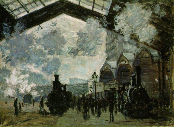 Saint Lazare Station, the Normandy train Monet