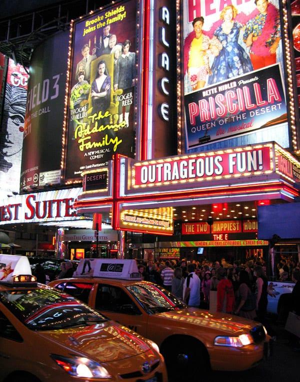 Musicais na Broadway em Times Square