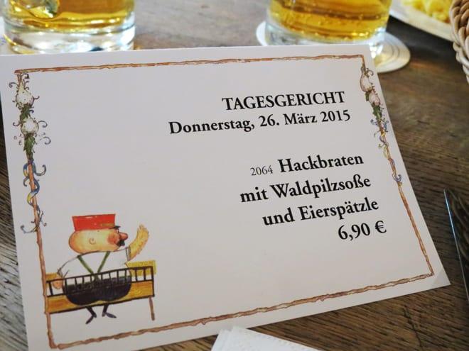 Cardápio em alemão